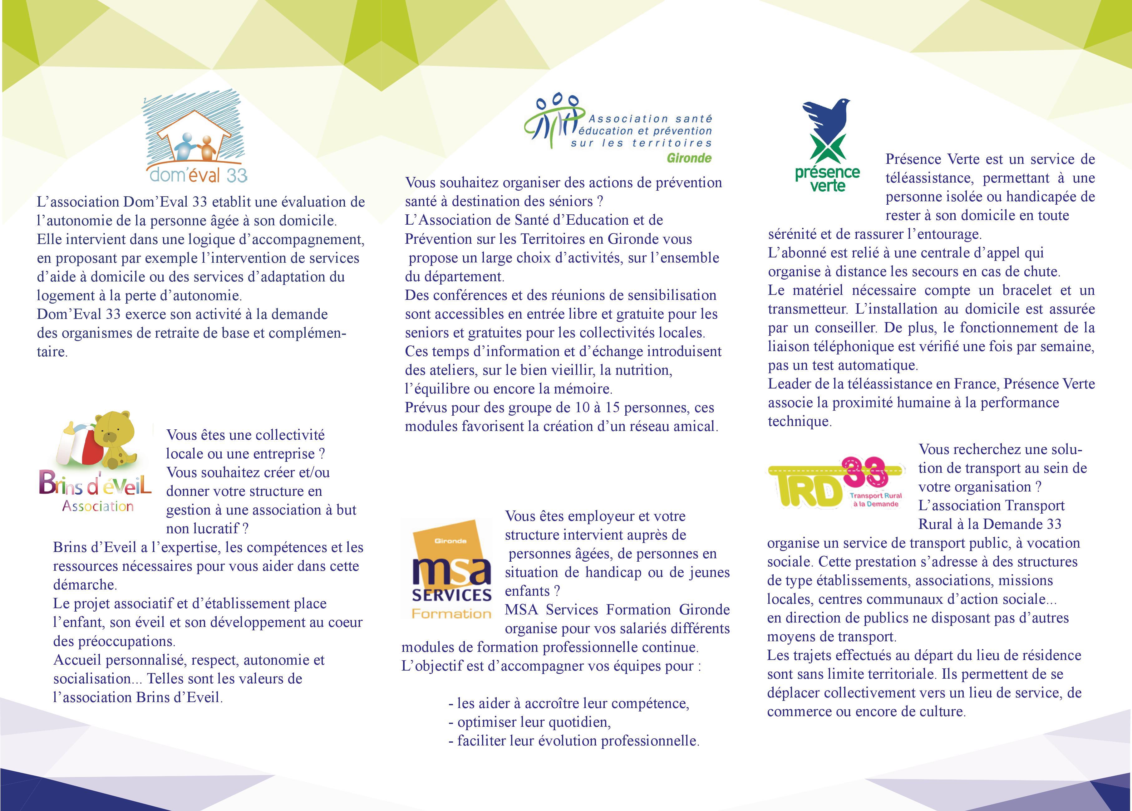 Présentation MSA Services Gironde 2