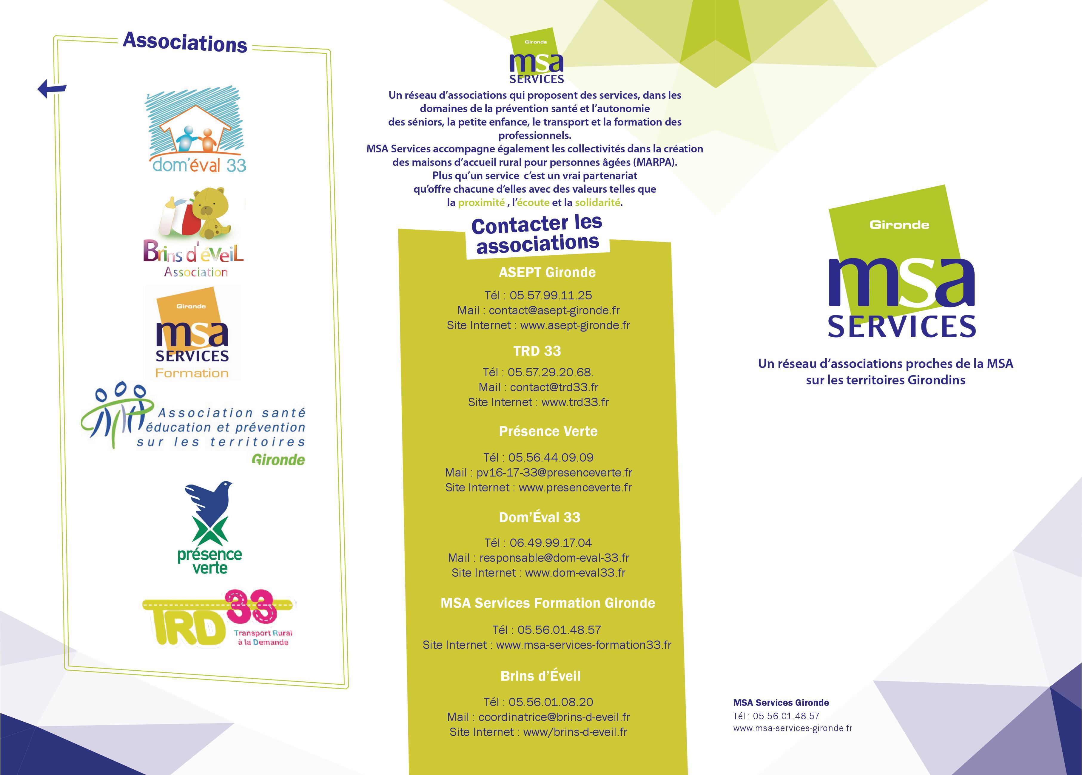 Présentation MSA Services Gironde